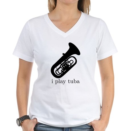 I Play Tuba Women's V-Neck T-Shirt