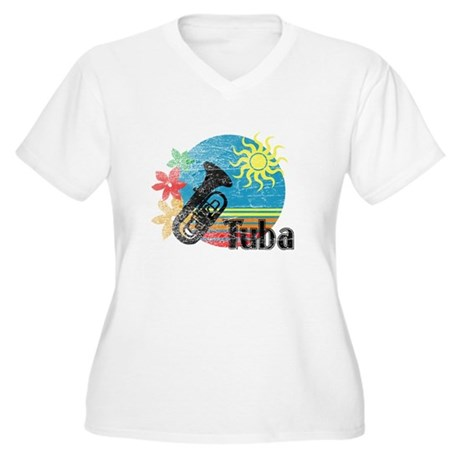 Hawaiian Tuba Women's Plus Size V-Neck T-Shirt
