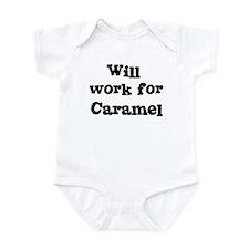 Will work for Caramel Infant Bodysuit