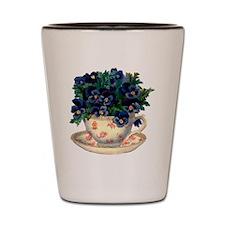 Teacup Flowers Shot Glass
