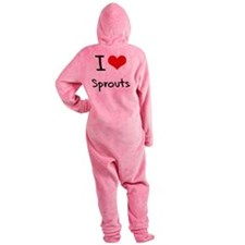 I love Sprouts Footed Pajamas