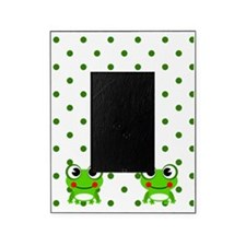 Cute Frogs and Polka Dots Picture Frame