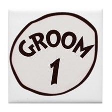 Groom 1 Tile Coaster