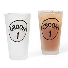 Groom 1 Drinking Glass