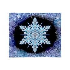 August Snowflake - wide Throw Blanket