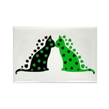 Irish Cats Rectangle Magnet