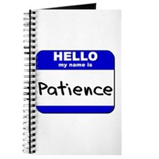 hello my name is patience Journal