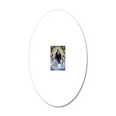 Regina Angelorum Bouguereau 20x12 Oval Wall Decal