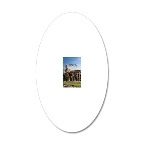 Rome_5X7_Card_Colosseum 20x12 Oval Wall Decal