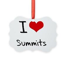I love Summits Ornament