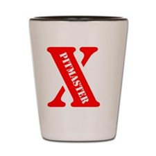 Red X Shot Glass