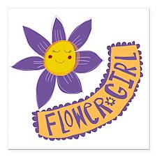 "flowergirl Square Car Magnet 3"" x 3"""