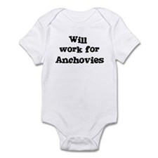 Will work for Anchovies Infant Bodysuit