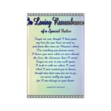 In Loving Remembrance Rectangle Magnet
