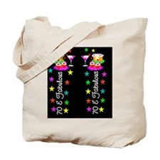 GLITZY 70TH Tote Bag