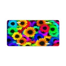 Sunflowers SB Aluminum License Plate
