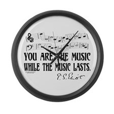 You are the music Large Wall Clock