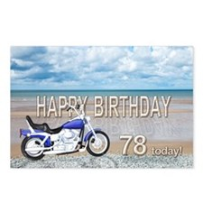 78th birthday beach bike Postcards (Package of 8)