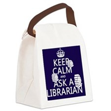 Keep Calm and Ask A Librarian Canvas Lunch Bag