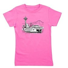 Space Needle and Ferry Girl's Tee