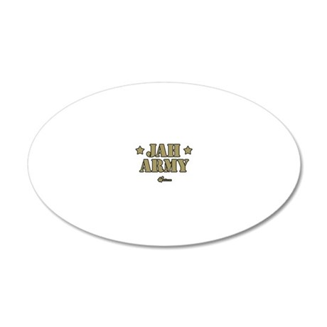 Jah Army 20x12 Oval Wall Decal