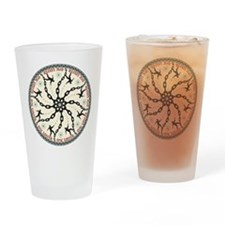 Disc Golfer Drinking Glass