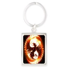 Ipad Mini red phoenix Portrait Keychain
