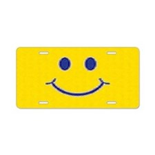 Happy Smile Aluminum License Plate