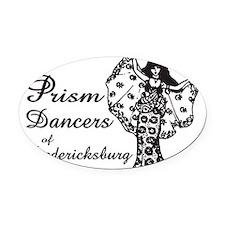 Prism Dancers of Fredericksburg Oval Car Magnet
