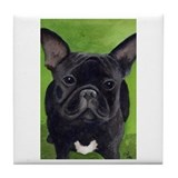 French Bully Tile Coaster