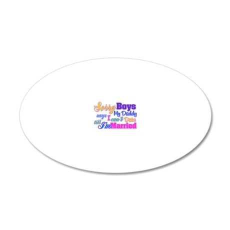 sorryboys 20x12 Oval Wall Decal