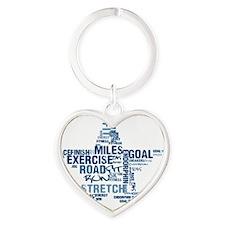 Running Star Heart Keychain