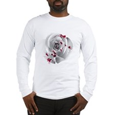 Bloody White Rose Long Sleeve T-Shirt