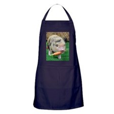 Micro pig with carrot Apron (dark)