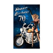 70th birthday sexy biker Decal
