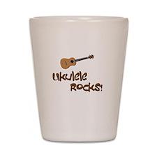 ukulele uke funny ukele design Shot Glass