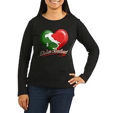Italian Sweetheart Women's Long Sleeve Dark Tee