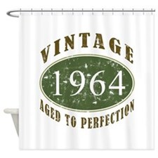 Vintage 1964 Birthday (Green) Shower Curtain