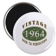 "Vintage 1964 Birthday (Green) 2.25"" Magnet (100 pa"