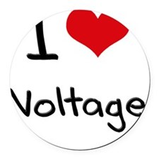 I love Voltage Round Car Magnet