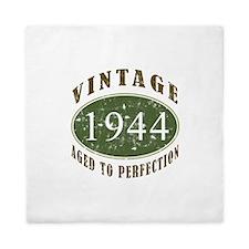 Vintage 1944 Birthday (Green) Queen Duvet