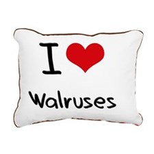 I love Walruses Rectangular Canvas Pillow