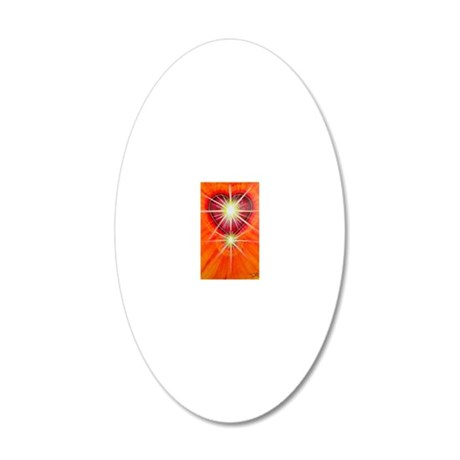 Love is Light 20x12 Oval Wall Decal