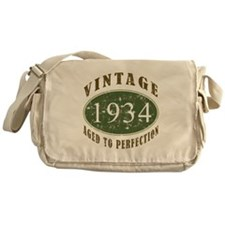 Vintage 1934 Birthday (Green) Messenger Bag