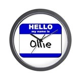 hello my name is ollie  Wall Clock