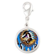 Spiritual Horse Silver Round Charm