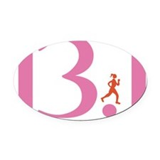 13.1 Runs Like A Girl Oval Car Magnet