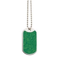 Green Circuit Board Dog Tags