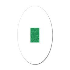 Green Circuit Board 20x12 Oval Wall Decal