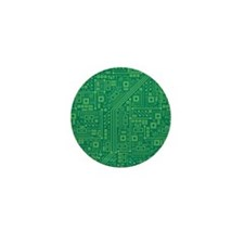 Green Circuit Board Mini Button